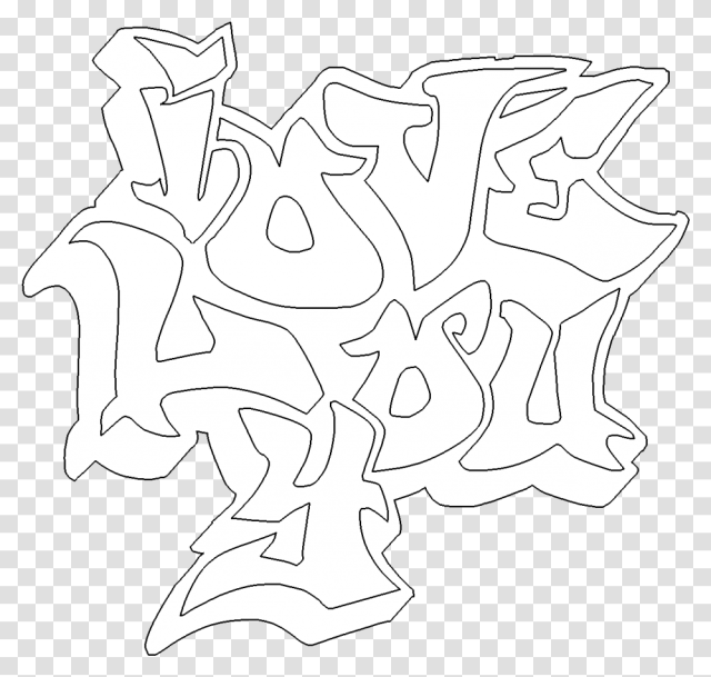 Collection Of I Love You Graffiti Coloring Pages Graffiti I Love