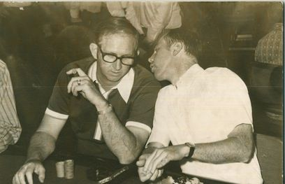 "Bob Hooks and Jack Binion: ""It's like the rookie telling Babe Ruth how to play baseball,"" Hooks said of the picture."
