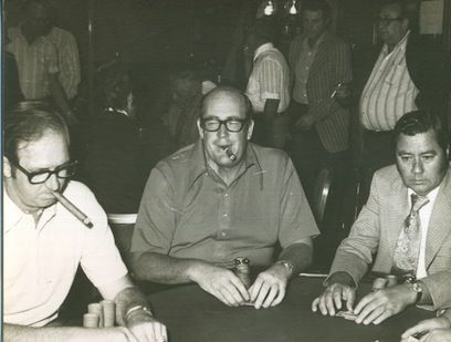 Bob Hooks (left) and Doyle Brunson (center)