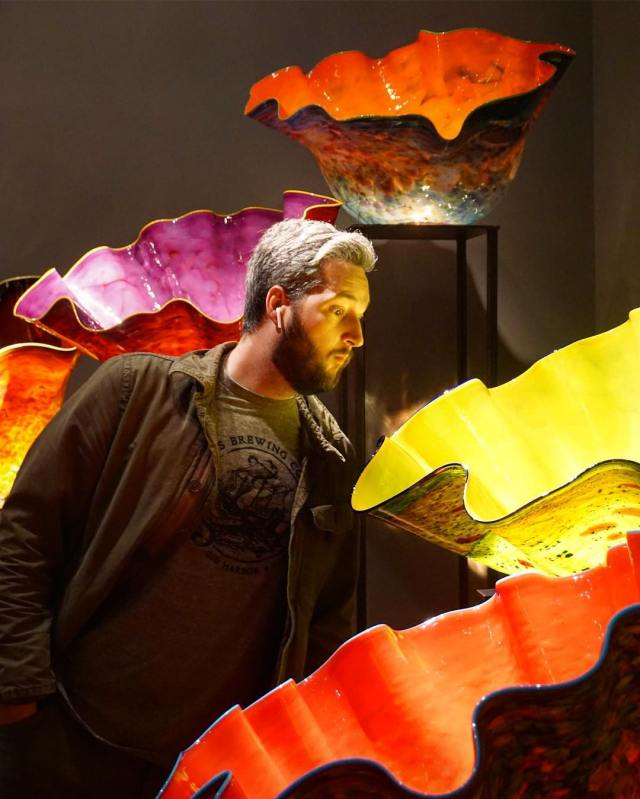 Being blown away @chihulygg