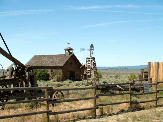 One Room School House in Fort Rock, Oregon