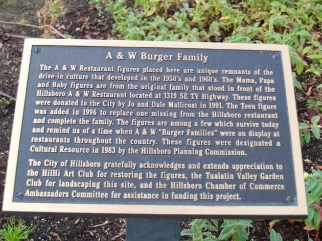 A&W Family Plaque