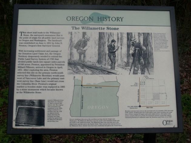 Willamette Stone Marker
