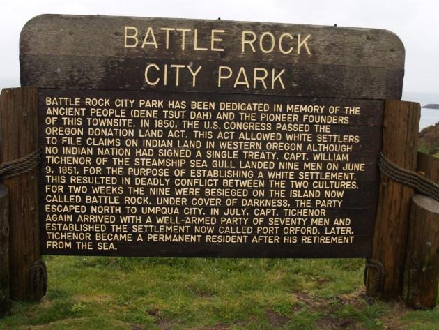 Battle Rock City Park History Sign