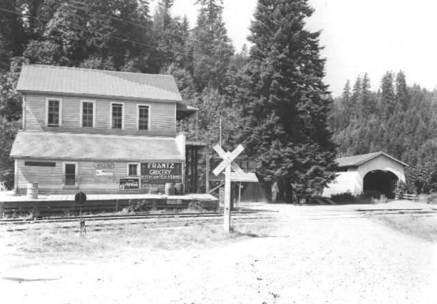 Frantz Grocery and Hoskins Covered Bridge