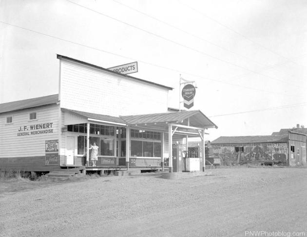 Another view of J.F. Wienert's General Store in 1942