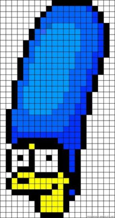 marge-simpson-pixel-art