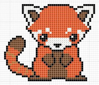 red_panda_pattern_by_zaraphena-d4yil3x