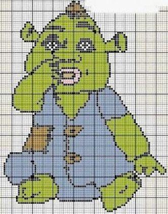 c799d4b83608bd4b17c49cda7337a955--needlepoint-patterns-shrek