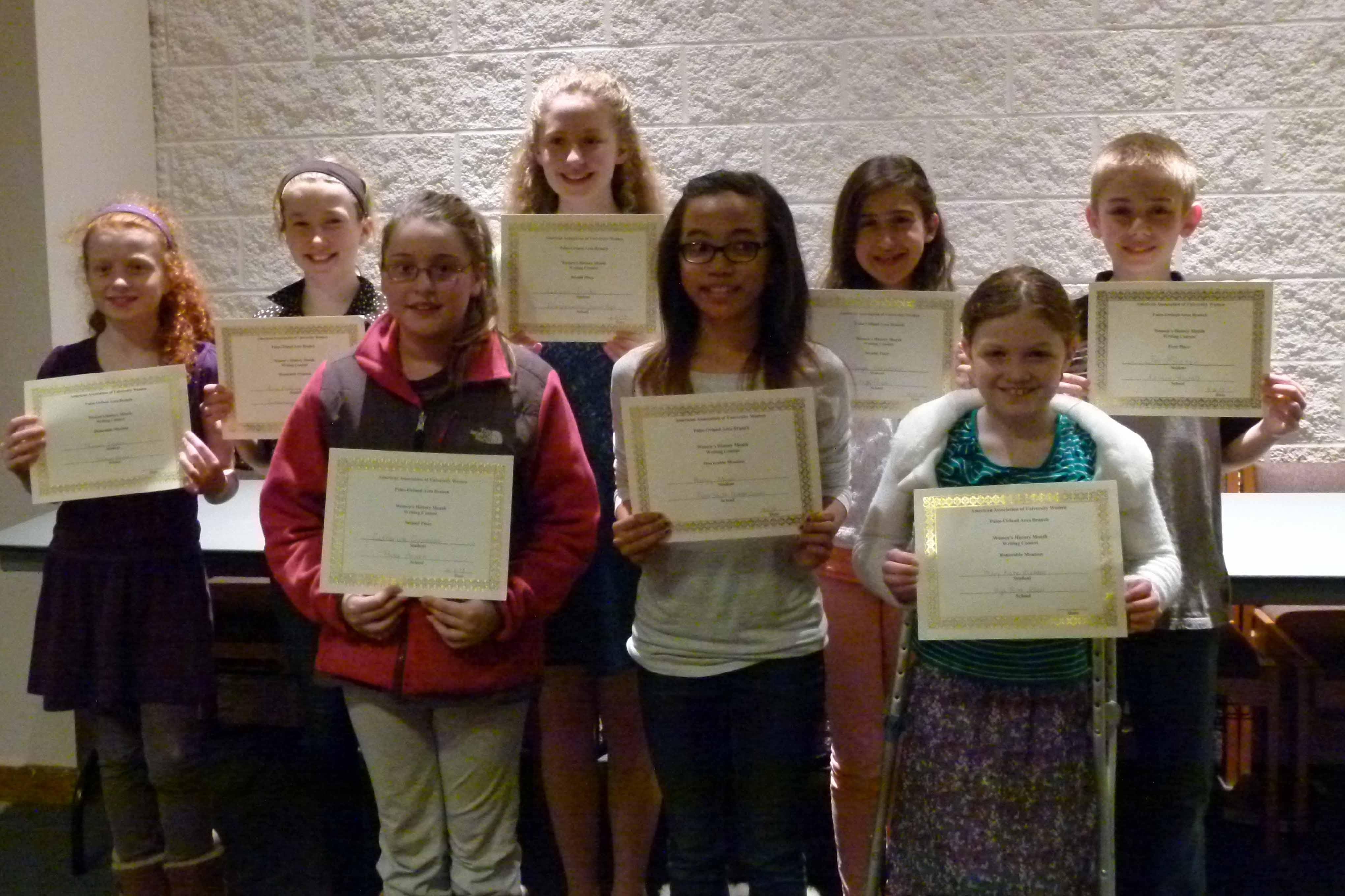 Aauw Women S History Month Essay Contest Winners