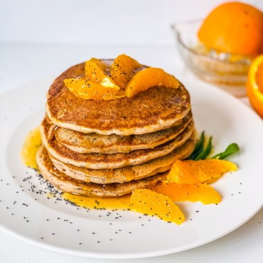 Orange and Poppy Seed Buckwheat Pancakes