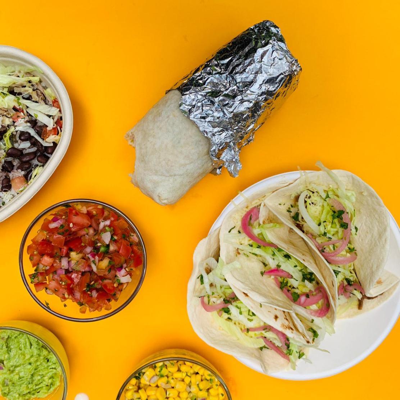 Burrito, Bowl, Tacos, Salsa, Maíz, Guacamole