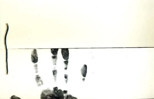 book page hand