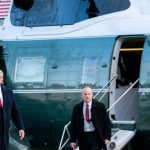 Trump with Marine One