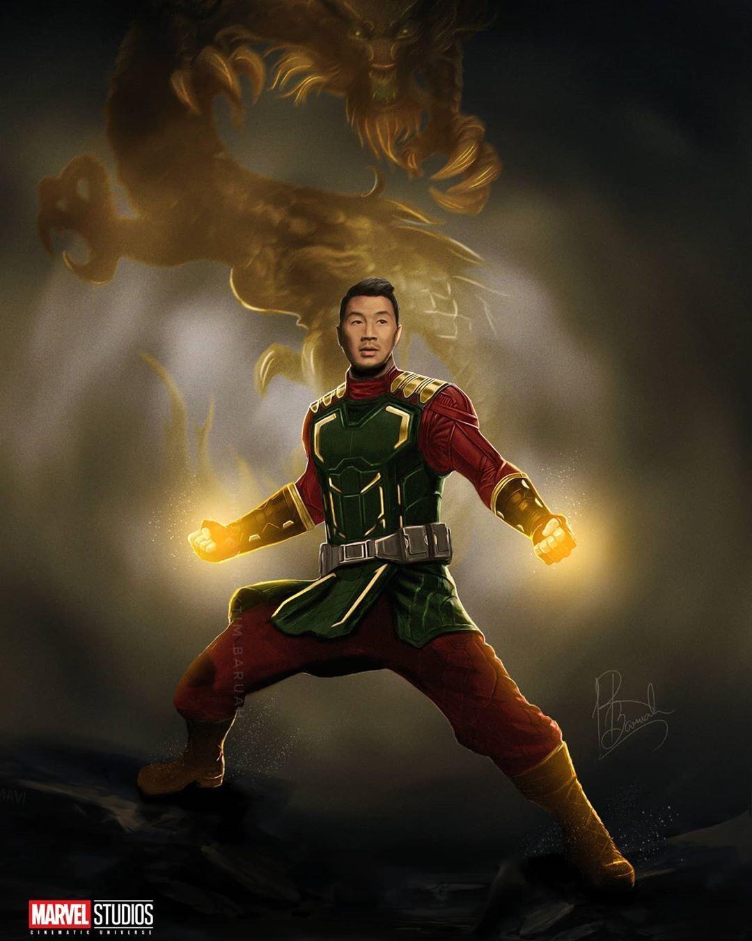 Simu Liu as Shang-Chi Fan Art by Hriday Raktim
