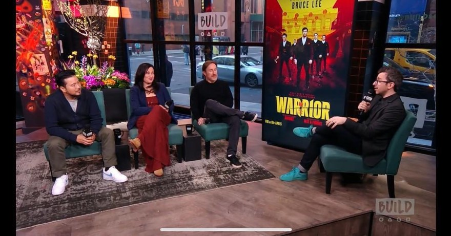 Justin Lin, Shannon Lee and Jonathan Tropper Promoting Warrior
