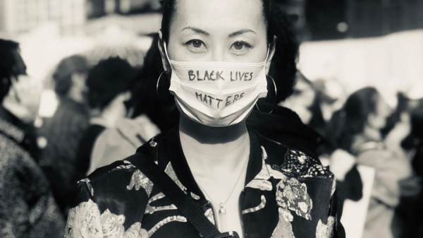 Olivia Cheng at a Black Lives Matter Rally