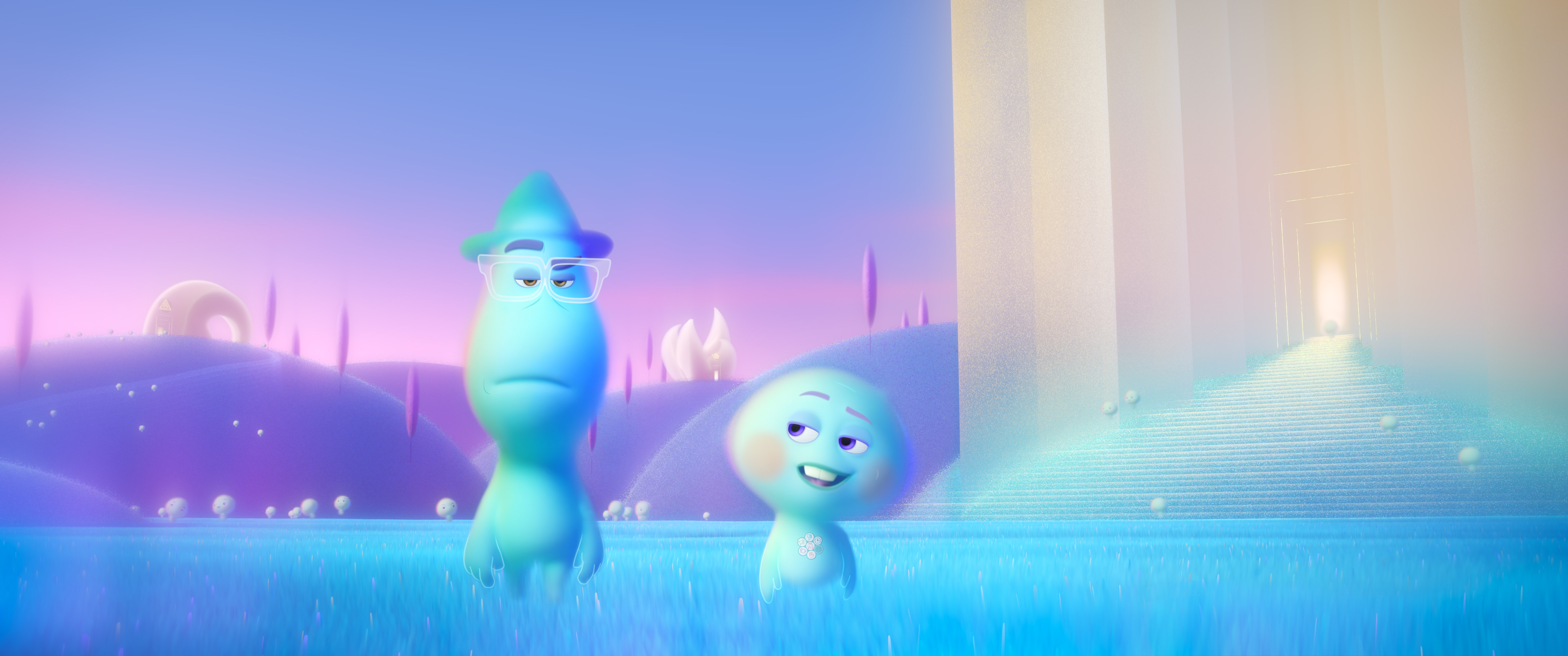 The souls of Joe Gardner, voiced by Jamie Foxx, and 22, voiced by Tina Fey