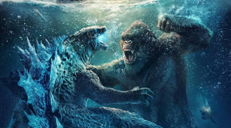 Godzilla vs. Kong under water Credit: Warner Bros. Pictures