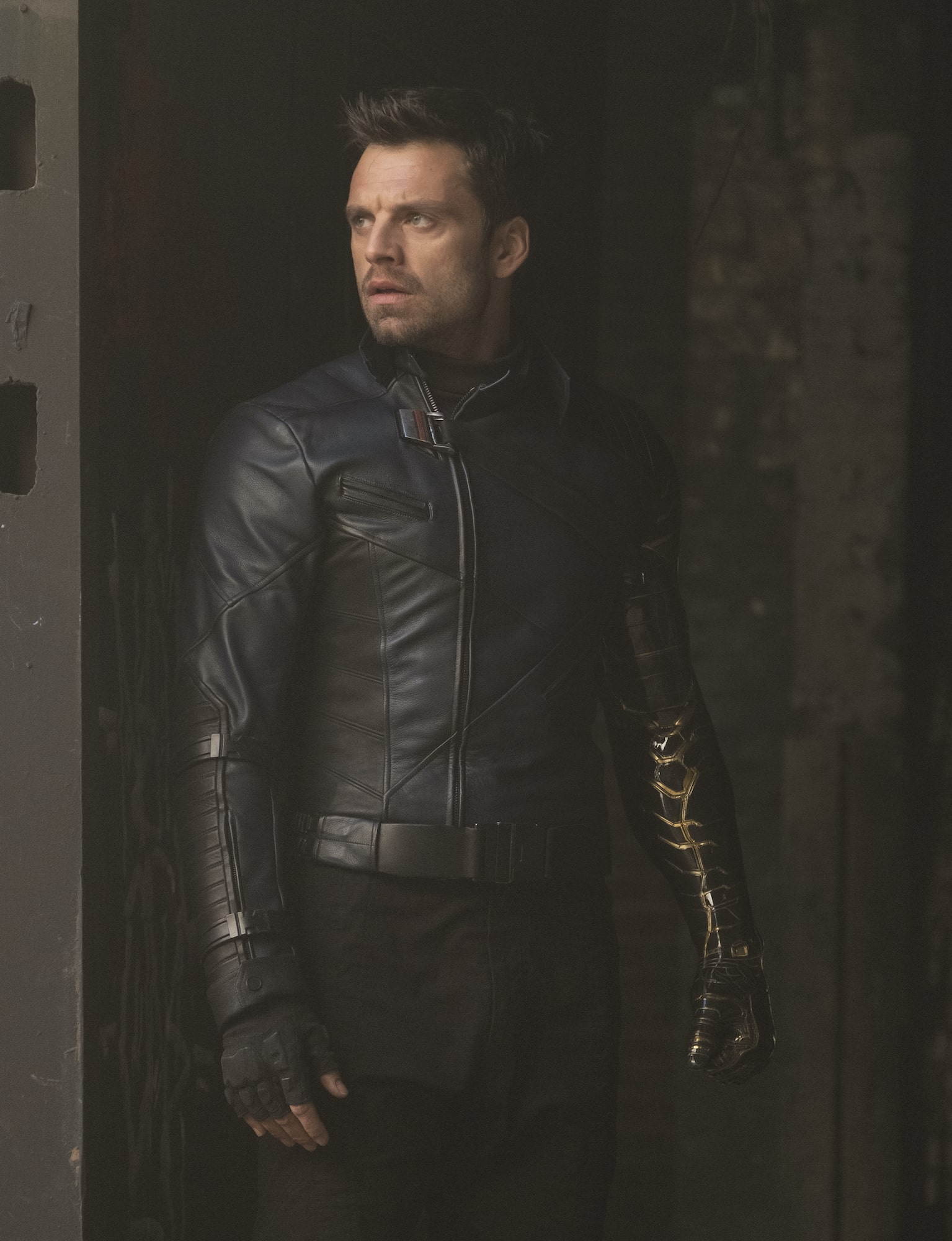 Bucky Barnes/The Winter Soldier (Sebastian Stan) in Marvel Studios' THE FALCON AND THE WINTER SOLDIER exclusively on Disney+. Photo by Chuck Zlotnick. Credit Marvel Studios 2021. All Rights Reserved.