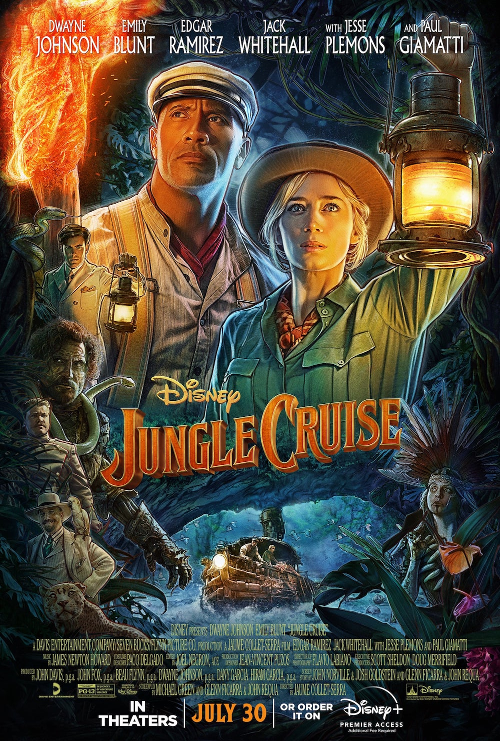 Disney's Jungle Cruise Theatrical Poster