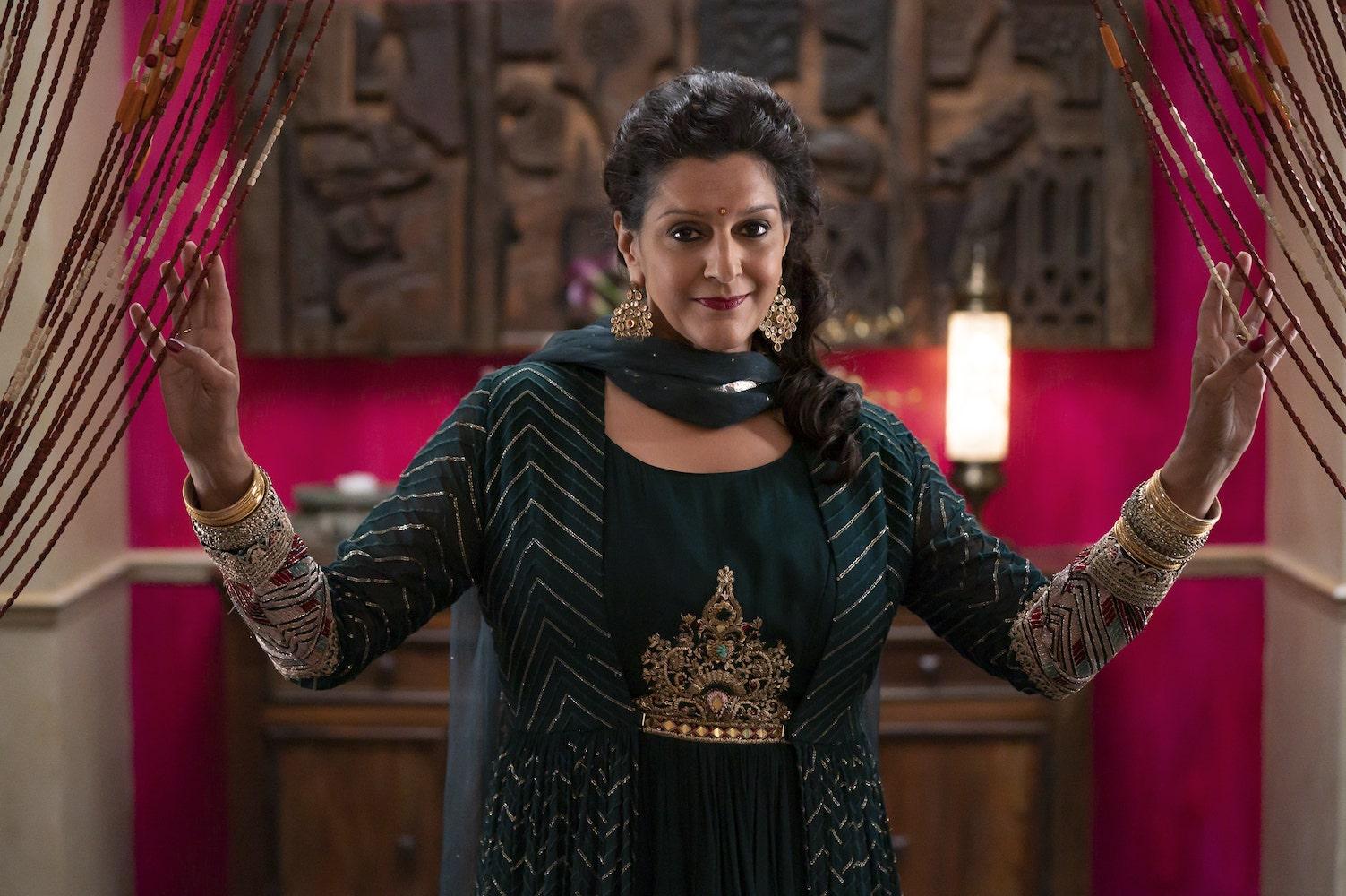 "SPIN – Disney's ""Spin"" stars Meera Syal as Grandmother Asha. (Disney/John Medland)"