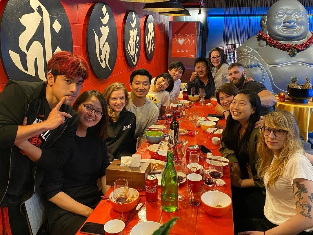 Andy Le with the Cast of Shang-Chi and the Legend of the Ten Rings Credit: Andy Le