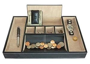 Valet tray (coins not included) from Amazon