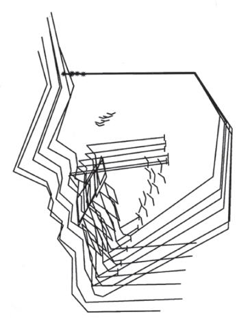 Diagram showing Superimposed tracings.