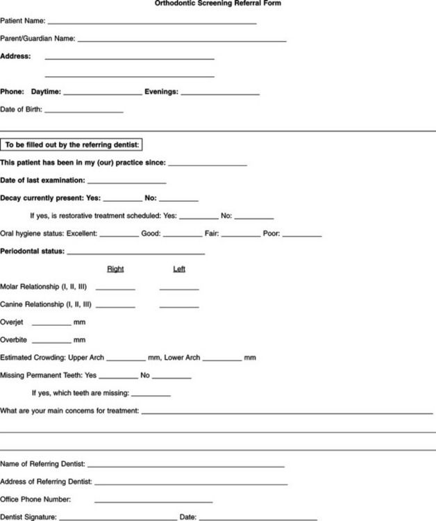 Dentists Medical Consultation Form Sample