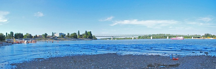 View of the Danube from Sziget Beach.