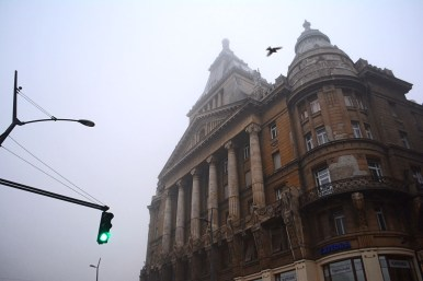 Anker house on a foggy morning
