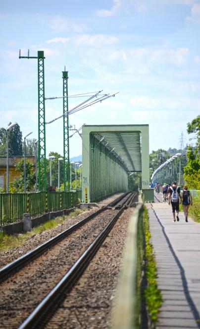 Újpest rail bridge