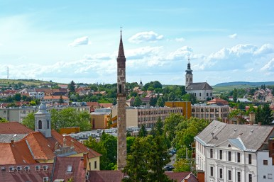 View of Eger with the minaret and the Serbian church
