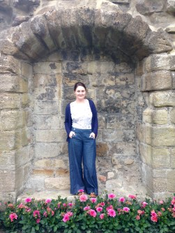 Refashioned sailor-style trousers
