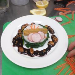 Uni with Sushi Rice & Almond Satay Sauce