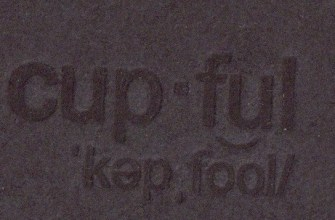 CUPFUL FRONTCOVER detail