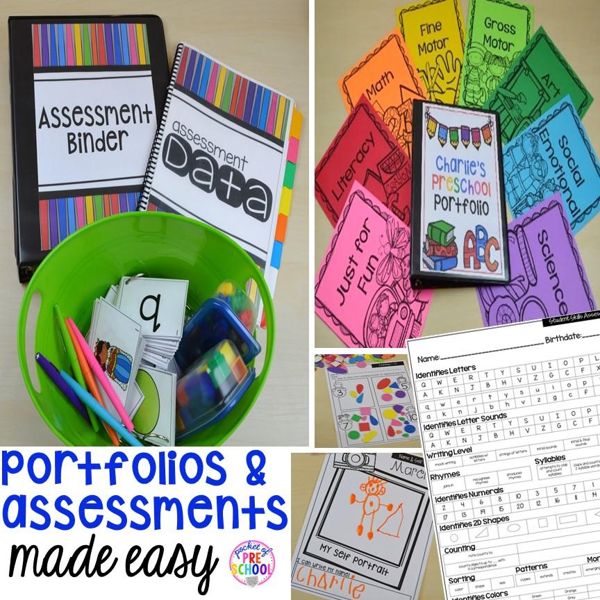 Portfolios Assessments For Preschool Pre K And