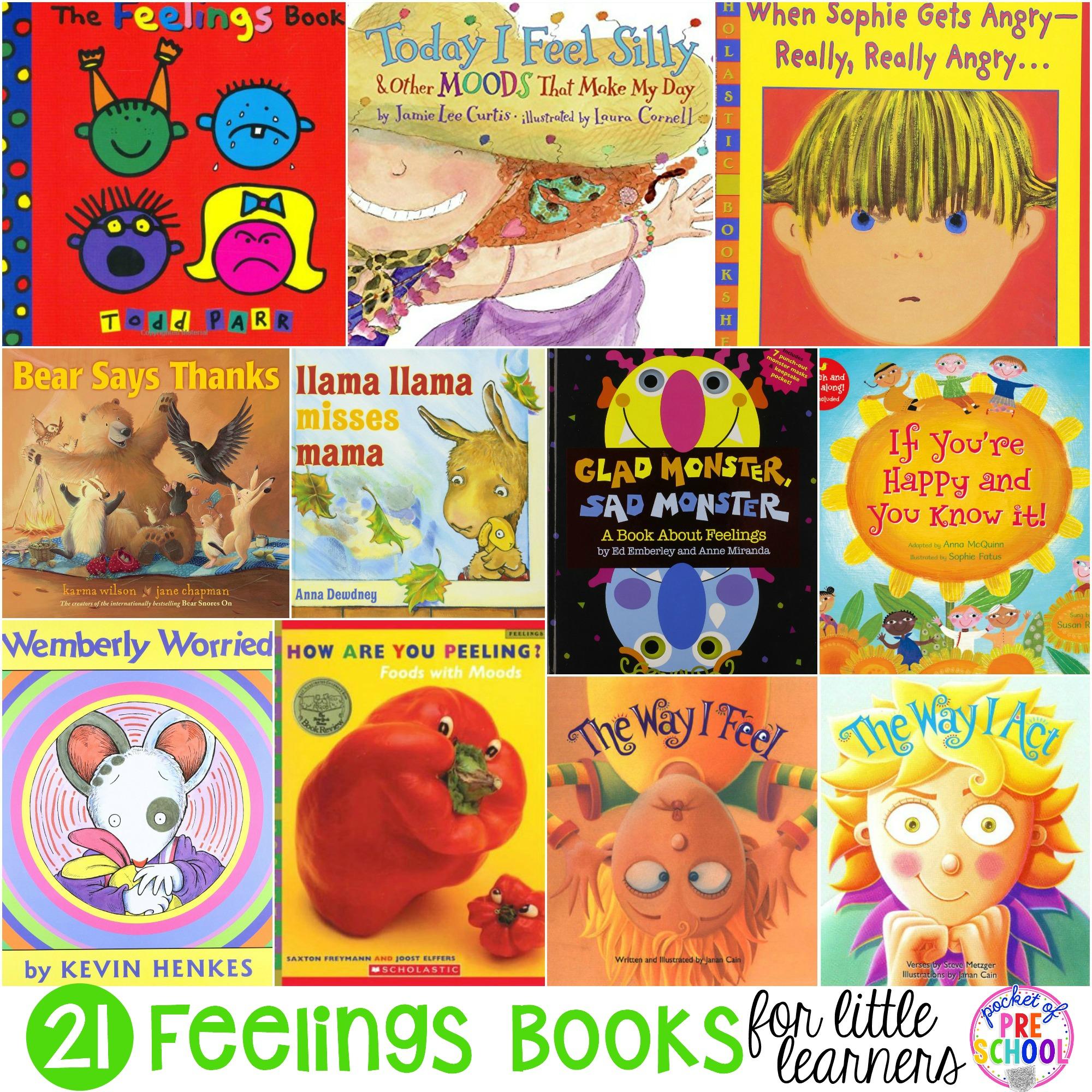 Feelings Books For Little Learners Preschool Pre K And