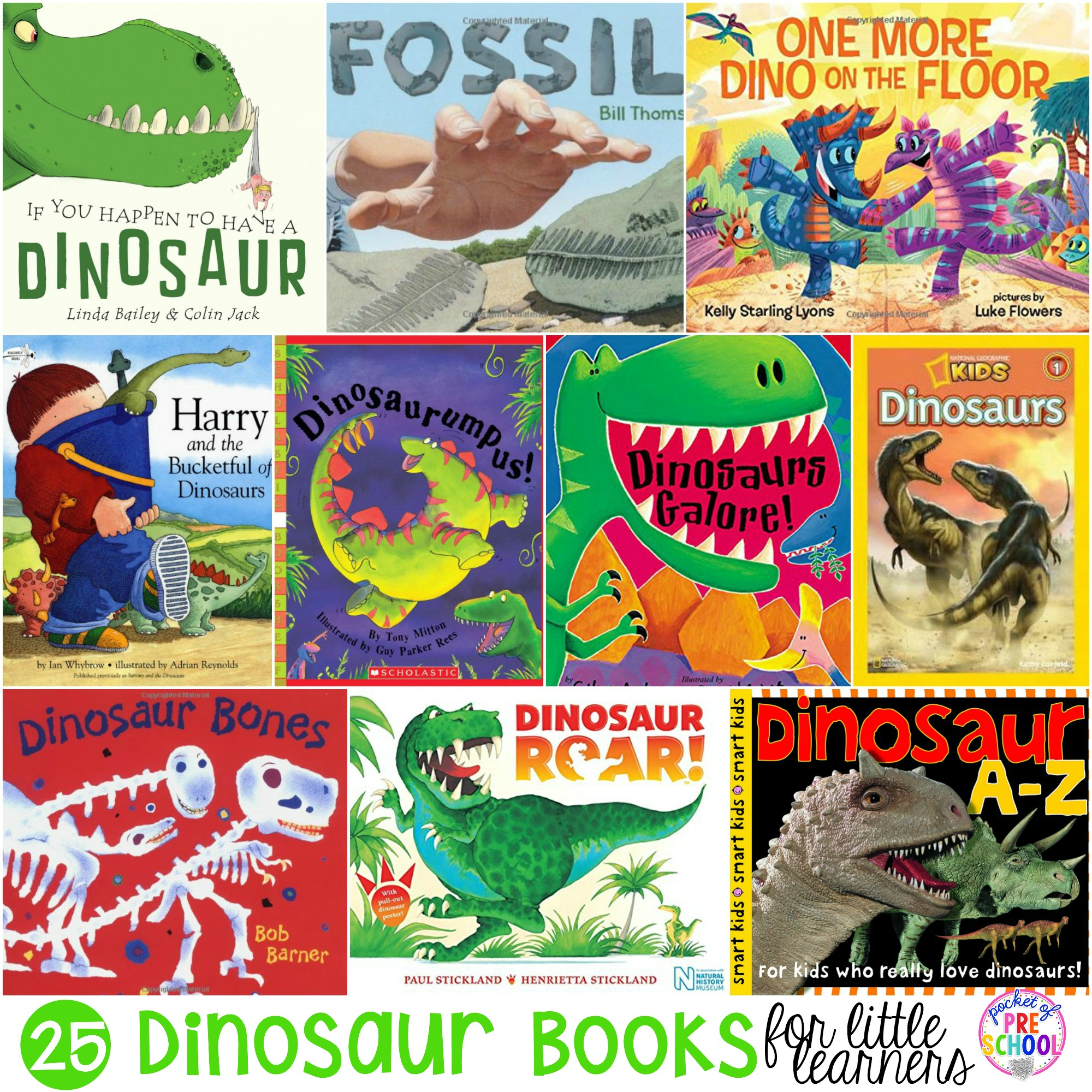 Dinosaur Books For Preschool Pre K And Kindergarten