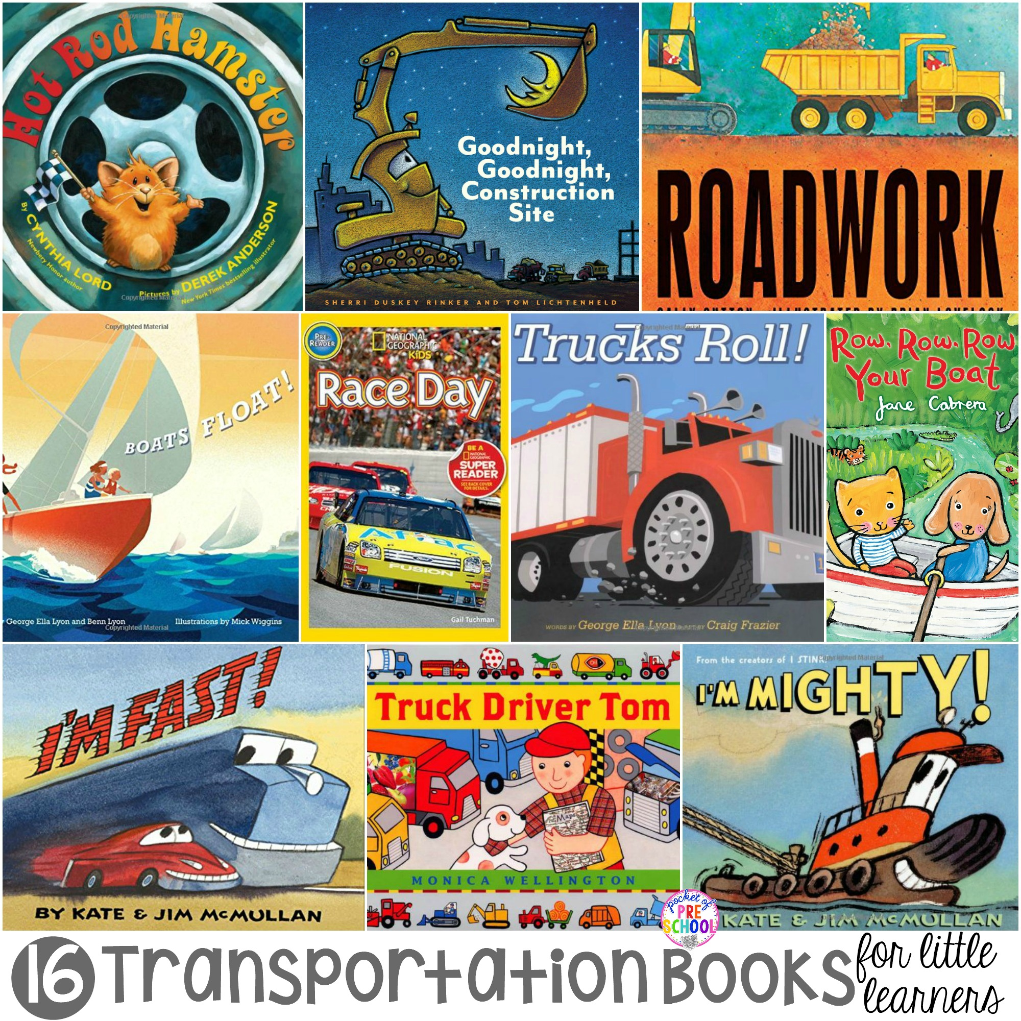 Transportation Books For Little Learners