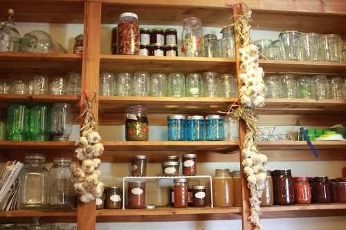 Softneck garlic braided and stored in my pantry