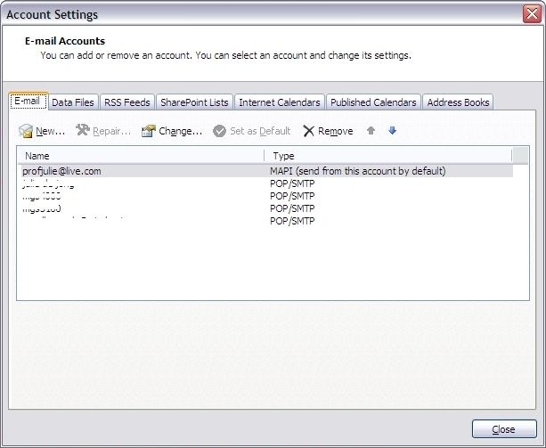 Email Account Settings2