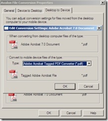 PDF Conversion Settings