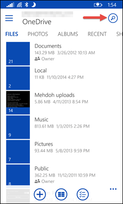 OneDrive Search1