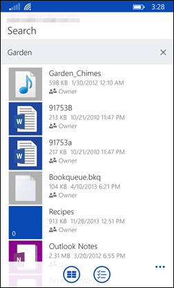OneDrive Search3