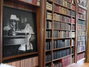 Edith's library. The collection of 2700 books recently returned to The Mount and are being digitized. Read more: http://www.edithwharton.org/2013site/wp-content/uploads/2013/01/Library-short-history.pdf