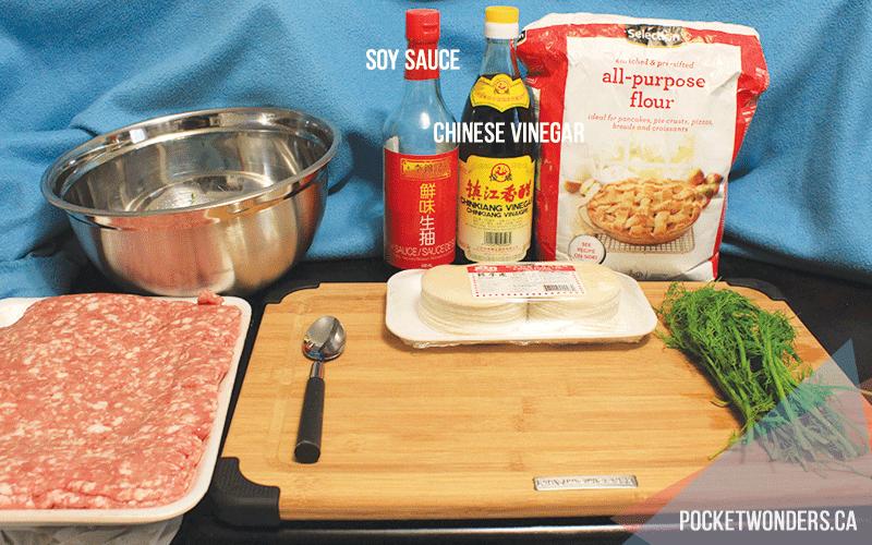how to make dumplings, the ingredients