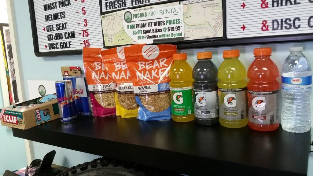 Pocono Bike Rental Energy Drinks for Sale