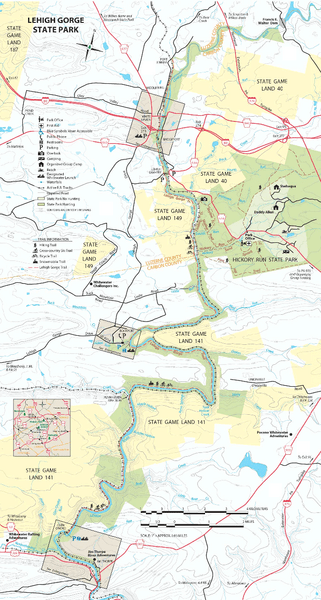 Lehigh-Gorge-State-Park-Map